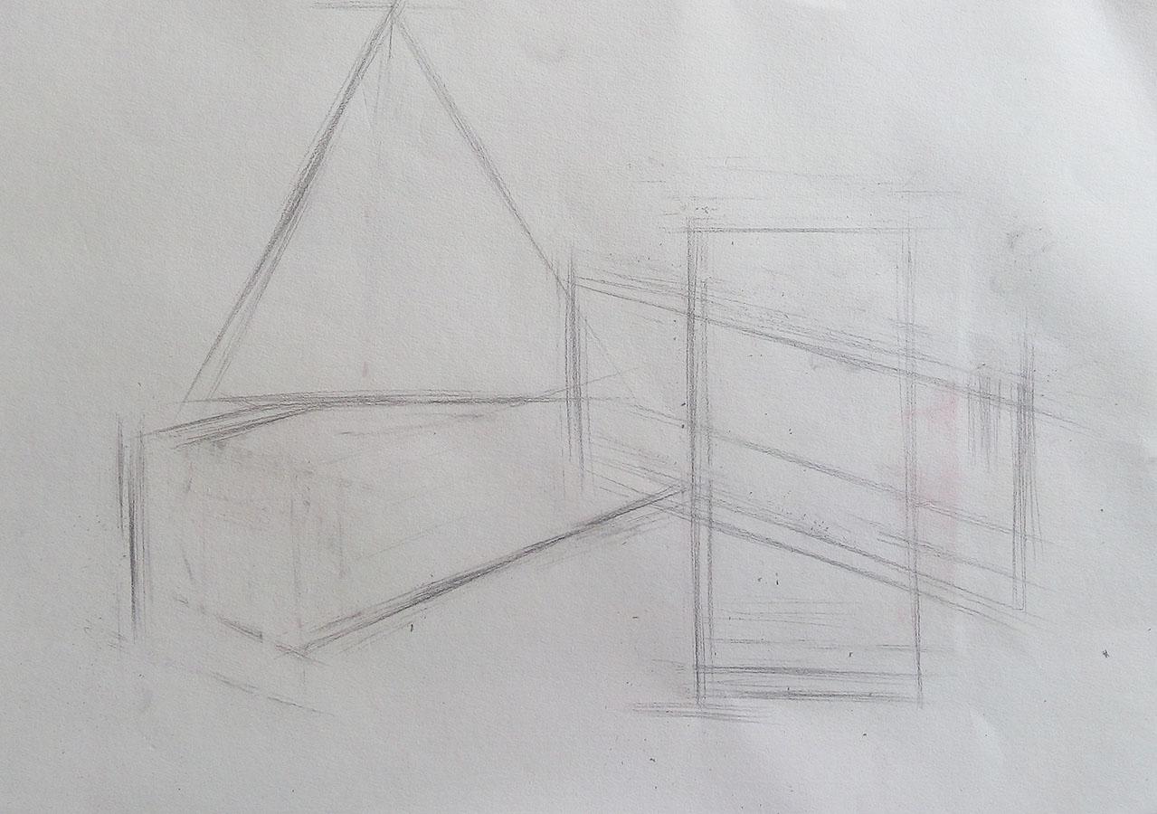 素描几何体步骤构图