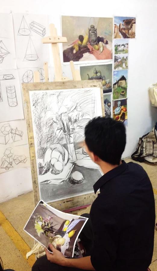 花卉素描静物-美术基础教程-广州玛雅教育|广州玛雅