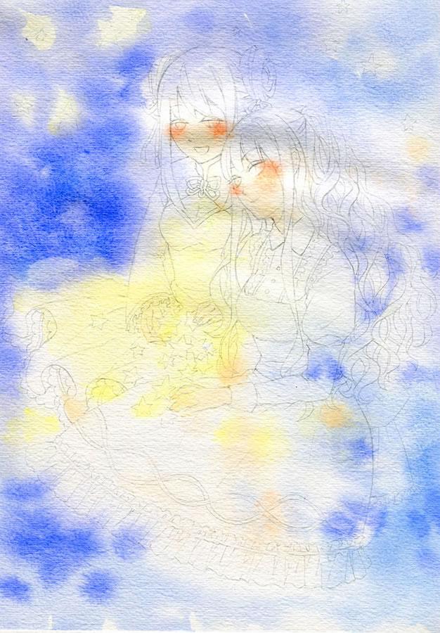 """教室开设日式漫画手绘公开课,日漫老师刘老师的""""少女与光的和绘水彩"""