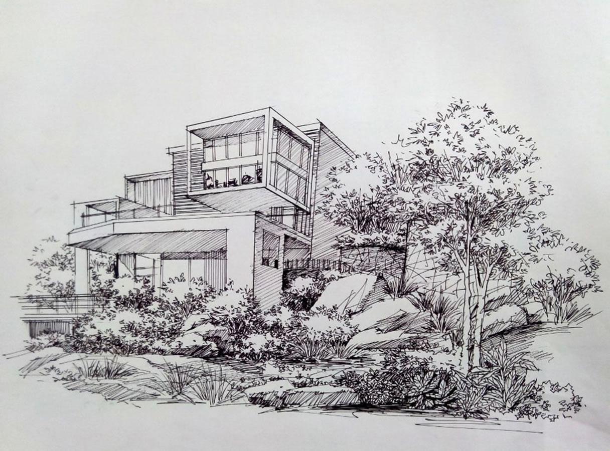 """唐老师的""""建筑风景手绘讲解示范""""课程,包括:建筑手绘基础知识,写生"""