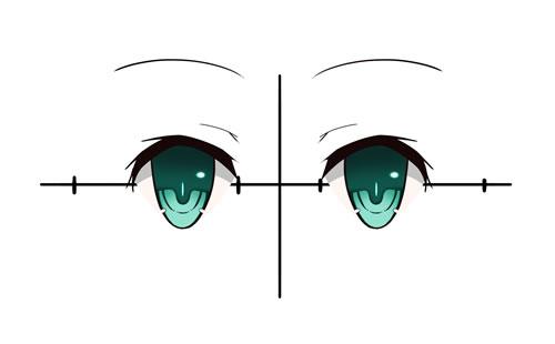 日漫萌系眼睛的画法