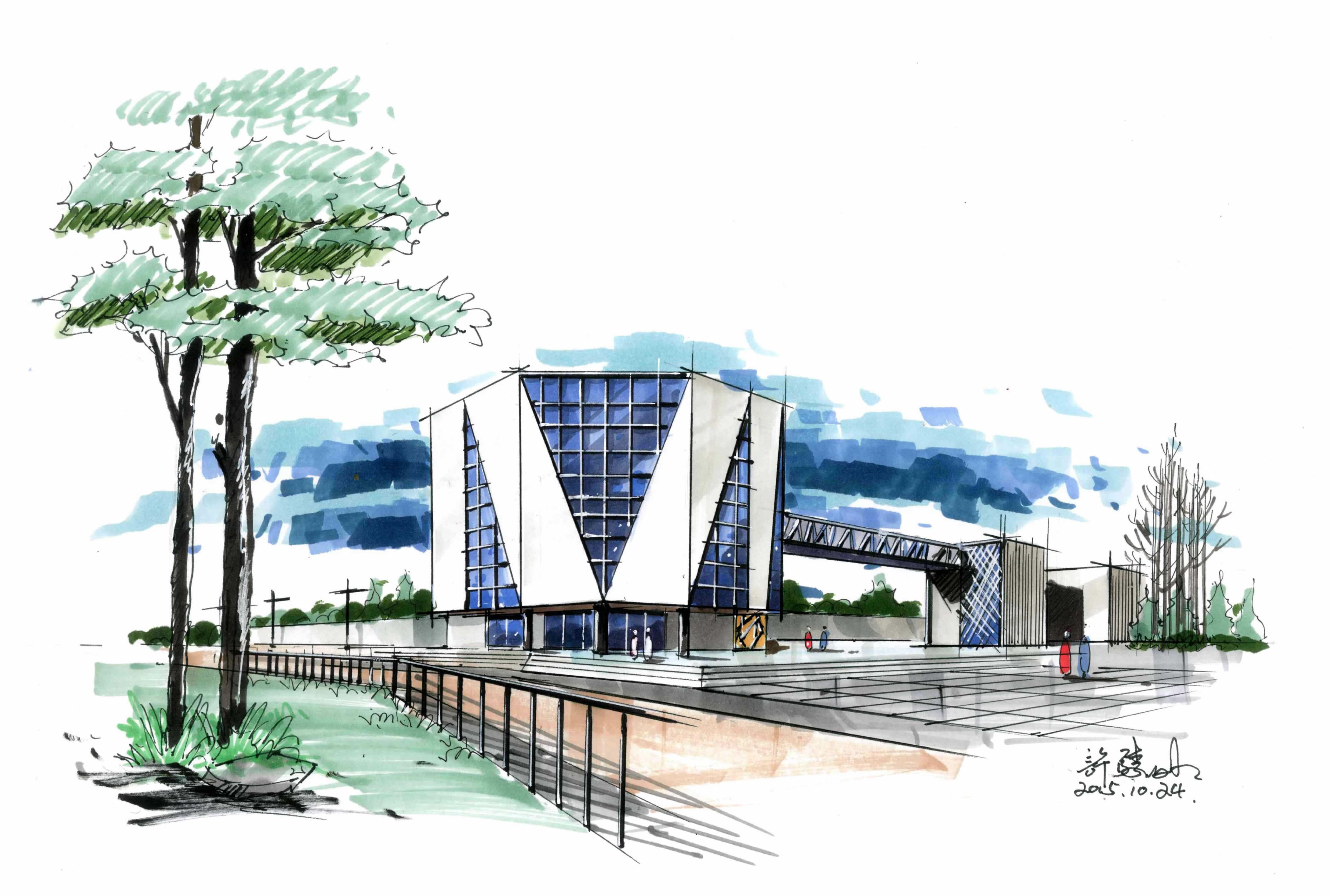 2016年9月25日手绘建筑设计公开课