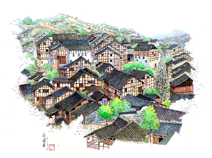 色彩风景——马克笔上色-手绘教程-广州玛雅美术教育