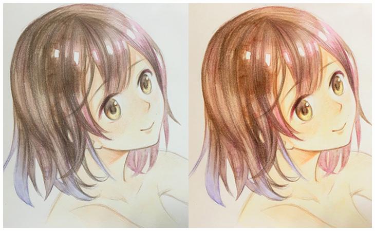 2017年5月21日手绘公开课(动漫角色头像绘制粉彩 彩铅