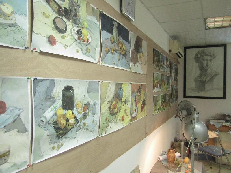 新画室新环境; 美术教室布置效果图